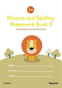 Picture of Phonics and Spelling Homework Book 3 - Depicta
