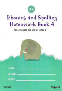 Picture of Phonics and Spelling Homework Book 4 - Depicta