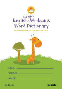 Picture of My Own English-Afrikaans Word Dictionary - Depicta