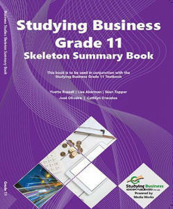 Picture of NSC Studying Business Grade 11 Skeleton Summary (Workbook)