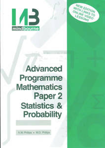 Picture of Mindbourne Advanced Programme Mathematics Paper 2 Stastistics & Probability Textbook