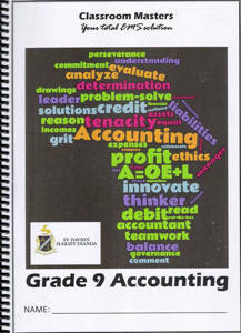 Picture of Classroom Masters Accounting Grade 9 CAPS for St Davids only