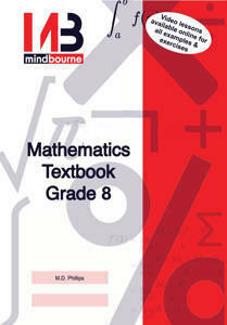 Picture of Mindbourne Maths Grade 8 Textbook and Video